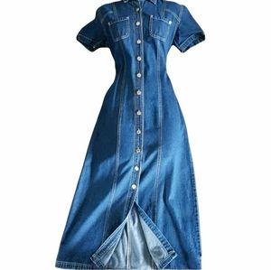 🌼RARE🌼90s Vintage Adriana denim dress